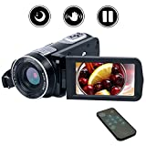 VideoKamera Camcorder Full HD 1080p 24,0 MP Digital Camcorder Nachtsicht 18X digitaler Zoom mit Fernbedienung