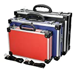 ECD Germany 3tlg. Werkzeugkoffer in 3 verschiedenen Größen mit Aluminiumrahmen Werkzeugkiste Alukiste Transportkoffer Alukoffer Koffer