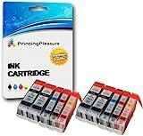 10 Druckerpatronen für Canon BJC-3000, BJC-6000, BJC-6100, BJC-6200, BJC-6500, BJI-6500, I550, I550X, I560, I560X, I6500, I850, iP3000, iP4000, iP4000R, iP5000, MP700, MP730, MP750, MP780, MPC100 MPC400, MPC600, MPC600F, MP-F50, MP-F60, MP-F80, C100, C150, C600, C600f, S400, S400X, S450, S4500, S500, S520, S530d, S600, S630, S6300, S750 | kompatibel zu BCI-3eBK, BCI-6C, BCI-6M, BCI-6Y