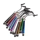 Yizhet 10x mini universal Stylus Stift Touch Pen Eingabestift mit 3.5mm Staubschutz für iPhone iPad...