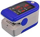 Fingerpulsoximeter CMS-50 DL Herzfrequenzmesser SPO2 Sauerstoffsättigung Messung mit LED Display incl. Batterien/Tasche/Schutzhülle Silikon/Trageband