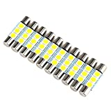 sharplace 10 x Weiß 5050 3SMD PREMIUM QUALITAET – NEU-28–31 mm LED Birne für Auto Visier Kosmetikspiegel Dome Light
