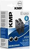 KMP E125D Tintenpatrone Double Pack, schwarz