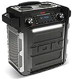 ION Audio Block Rocker Sport - Tragbares Bluetooth Lautsprecher mit integriertem Akku, wasserfest/staubresistent, Radio, USB Power Bank und Mikrofon schwarz