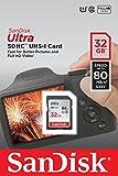 SanDisk Ultra SDHC I 32 GB bis zu 80 MB/Sek, Class 10 Speicherkarte  [Frustfreie Verpackung]