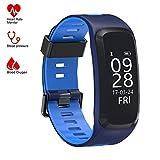Fitness Tracker, Smart Armband Activity Tracker Smartwatch Wristband Bluetooth Uhr, Herzfrequenz Monitor Blutdrucktest Schlafmonitor Wetter Temperatur Stoppuhr Mehrere Sportarten für Android und iOS Smartphones.