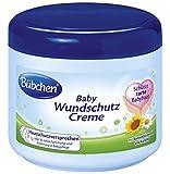 Bübchen Baby Wundschutz Creme, Sensitive Wundheilsalbe (Wund- und Heilsalbe für zarte Babyhaut, mit Sonnenblumenöl und Kamille) 2 x 500 ml