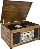 Karcher Nostalgie Musikcenter NO-038, Kompaktanlage mit Plattenspieler, CD-Player, Kassettendeck und...