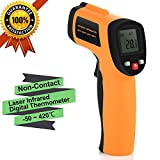 Infrarot-Thermometer, YH-THINKING Berührungslose IR Digital Infrarot Laser Thermometer Temperatur Meter Gewehr Point Range -50 ~ 550℃ (-58~1022℉) Emissivity 0.1~1 Adjustable