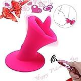 FUNEJOY Klitoris Stimulator Pussy Massage Zunge Vibrator mit 10 Frequenz Vibration und FernbedienungVibrierende Wiederaufladbare Klitoris Vibrator Sexspielzeug f¨¹r Frauen Paare und Lesben (Pink) ¡