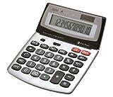 Genie 560 T 12-stelliger Design-Tischrechner (Dual-Power (Solar und Batterie), Jumbo-Display) silber...