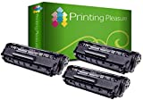 3 Toner kompatibel für Canon LBP-2900, LBP-2900i, LBP-2900B / LBP-3000 / 303 / 703 Schwarz / Black • Premium Qualität - Neuster Chip!