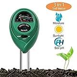 3 in 1 Bodentester PH Wert Messgerät, Keine Batterie Erforderlich, Digitales Bodenmessgerät PH Saurer Für Garten Pflanzen Erde Wasser