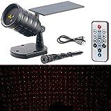 Lunartec Laser Sternenhimmel: Solar-Laser-Projektor mit Akku, Sternenregen-Lichteffekt, Timer, IP65 (LED Projektor)