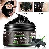 Black Mask, Mitesser Maske, Peel off Maske, Bambus Holzkohle Peel Off Maske, Poren reinigen Anti Öl Kontrolle Reinigung Blackhead Maske, Tiefenreinigung-120ML