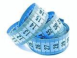 1 Maßband blau 150cm inkl. Aufbewahrungsdose, Schneidermaßband, Bandmaß