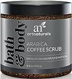 ArtNaturals Pure Arabica Coffee Scrub 260 ml - Das stärkste Mittel gegen Krampfadern, Cellulite und Dehnungsstreifen - Tiefenhautpeeling, das die Zellreparatur und -verjüngung fördert