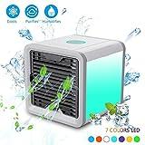 Nifogo Arctic Air Air Cooler, Mobile Klimageräte Ventilator, Air-Conditioning, Mini Luftkühler USB Klimagerät 3 in 1 Raumluftkühler, Luftbefeuchter und Luftreiniger Tragbarer Tischventilator für Büro,Hotel,Garage und Haus usw (Weiß)