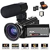 ACTITOP MCT-1 4K Camcorder, ACTITOP Videokamera 48mp full hd 1080p und16X Digital Zoom