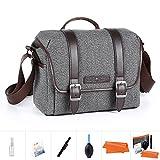 K&F Concept Kameratasche Messenger Tasche Fototasche Umhängetasche für eine Systemkamera und ein...