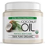 Natives Kokosöl für das Haar aus 100% reinen, nicht raffinierten Kokosnüssen, Extra Natives Kokosöl für Haut, Haar und Gesicht - Nicht raffiniert - 500 g Tube