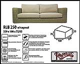 RLB250shaped Hülle für Lounge Bank, Rattan Gartensofa oder Lounge Sofa, 3 - 4 Personen, passt am besten am Sofa von max. 245 x 95 cm. Schutzhüllen für Bank, Schutzhülle für Lounge Bänke, Abdeckhaube Schutzhülle Schutz-Plane für gartenbank gartensofa