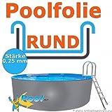 Poolfolie 3,00 x 0,92 m x 0,25 mm Schwimmbadfolie Innenhülle Auskleidung 3,0 m Ersatzfolie Pool 300 cm Ersatz Innenfolie rund Pools 0,90 m
