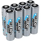 ANSMANN wiederaufladbare Akku Batterien Mignon AA, 1,2V / Typ 2850mAh, NiMH / Schnellladeakku mit...