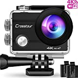 Action Cam 4K Unterwasserkamera Action Kamera WiFi Crosstour Wasserdicht Sports Cam Ultra Full HD 2'...