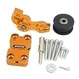 sourcingmap® golden Aluminum Alloy CNC Kettenspanner Spanngerät Werkzeug für Motorrad