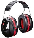 3M Peltor Optime III Kapselgehörschutz schwarz-rot / Größenverstellbare Ohrenschützer mit Doppelschalentechnologie für max. Dämpfung / SNR 35 Hörschutz auch bei sehr hohen Lautstärken