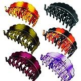 ZKSM 6 Stück Haarklammer Stabile Haarspangen Klammer für Dickes Haar, Feines Haar, Damen (6 Farben)