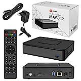 MAG 351/352 Original Infomir / HB-DIGITAL IPTV Set TOP Box Linux MAG 351 / MAG 352 , WLAN WiFi 802.11 b/g/n/ac, Bluetooth, Stalker, Multimedia Player Internet TV IP Receiver HEVC H.256 + HDMI Kabel