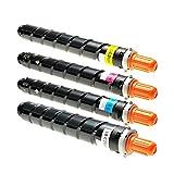 4 Toner für Canon Imagerunner IR Advance C 2000 Series 2020 2025 2030 2220 225 2230 I LI - 3782B002 3785B002 - Schwarz 23.000 Seiten, Color je 19.000 Seiten