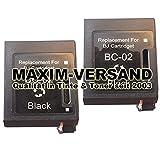 2x MAXIMPRINT XXL Tinten-Patronen SET kompatibel zu Canon BC-02 BJC-210 BJC-240 BJC-250 BJC-251 BC-01 BX-02