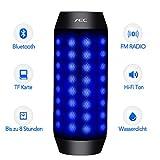 LED Lautsprecher - MEMTEQ Bluetooth Lautsprecher mit Radio Tragbarer Lautsprecher Radio Bluetooth...