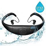 Tayogo MP3-Player, wasserdicht, mit Kopfhörern, 8 GB IPX8 Hi 3 m unter Wasser schwimmen Wasserdicht...
