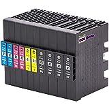 10er Set - Druckerpatronen kompatibel zu RICOH GC41 | 4x schwarz & je 2x cyan magenta gelb |...