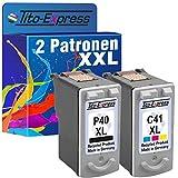 PlatinumSerie Farbset 2 Patronen für Canon PG-40 XL & CL-41 XL Pixma IP1600 IP1200 IP1300 IP1700 IP1800 IP1900