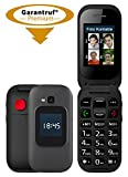 simvalley Mobile Handy: Notruf-Klapphandy, Garantruf Premium, 2 Displays, Hörgeräte-kompatibel...