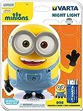 Varta LED Minions Nachtlicht Bob (inkl. 3x High Energy AA Batterie Taschenlampe Orientierungslicht Nachtlampe Stimmungslicht geeignet für Schlafzimmer Kinderzimmer mit Touch-Sensor und Auto-Abschaltfunktion)