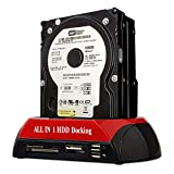 Goldfox 2.5' 3.5' SATA/IDE Festplattengehäuse Hard Drive Docking Station USB HDD Card Reader Dock HUB USB 2.0 Doppel Port hohe Qualität Kartenleser SATA Adapter