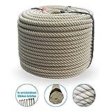 Grevinga® Polypropylen Spinnfaserseil - Kunststoffseil - Seil - Hanfseil Optik Ø 20 mm (5 m)
