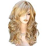 Sexy Frauen Damen Blonde Wavy Curly Partei Cosplay Perücke Langes Haar Dame volle Perücken