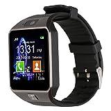 Jukkarri DZ09 Smartwatch Armbanduhr, Bluetooth-Kamera, Telefon mit SIM-Kartenslot, 2.0 Kamera und...
