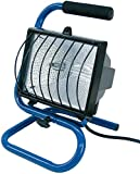 Brennenstuhl Halogenstrahler / Flutlicht Halogen ideal als mobiler Baustrahler (Strahler mit 1,5m Kabellänge, 400 Watt) Farbe: blau