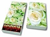 Kaminhölzer White roses – Weiße Rosen / Hochzeit / Blumen - 45 Streichhölzer