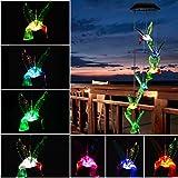 Solar Kolibri Windspiel, LED Licht wechselt Farbe Mobile Windspiel, wasserdicht Sechs Kolibri Windspiel für Zuhause, Party, Garten Dekoration