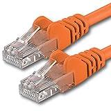 1aTTack CAT 6 UTP Netzwerk Patch-Kabel mit 2x RJ45 Stecker 5m orange