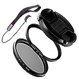 LUMOS STARTER 58mm UV Filter Polfilter Set passt zu Canon EF-S 18-55 55-250 mm EF 85mm 1.8 75-300 mm z.B. an EOS 1300D 700D 600D   Kamera Objektiv Zubehör